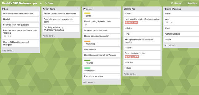 GTD Trello Board