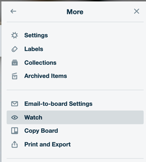 Watch This Board feature in Trello
