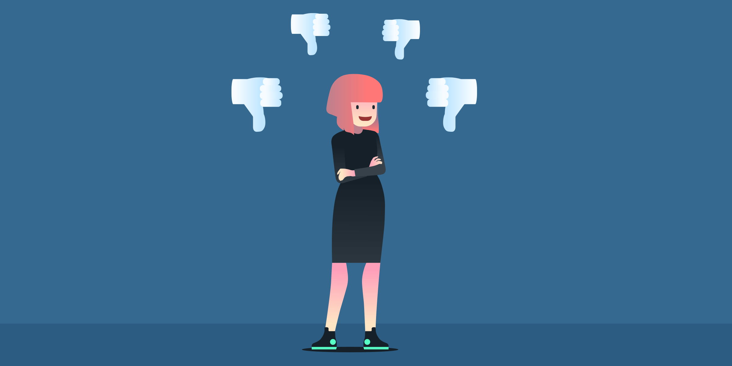 Negative feedback hurts chances of reaching a goal