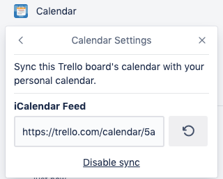 Power-Up Calendario en Trello