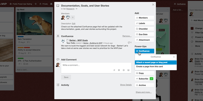How to attach a Confluence page to Trello card