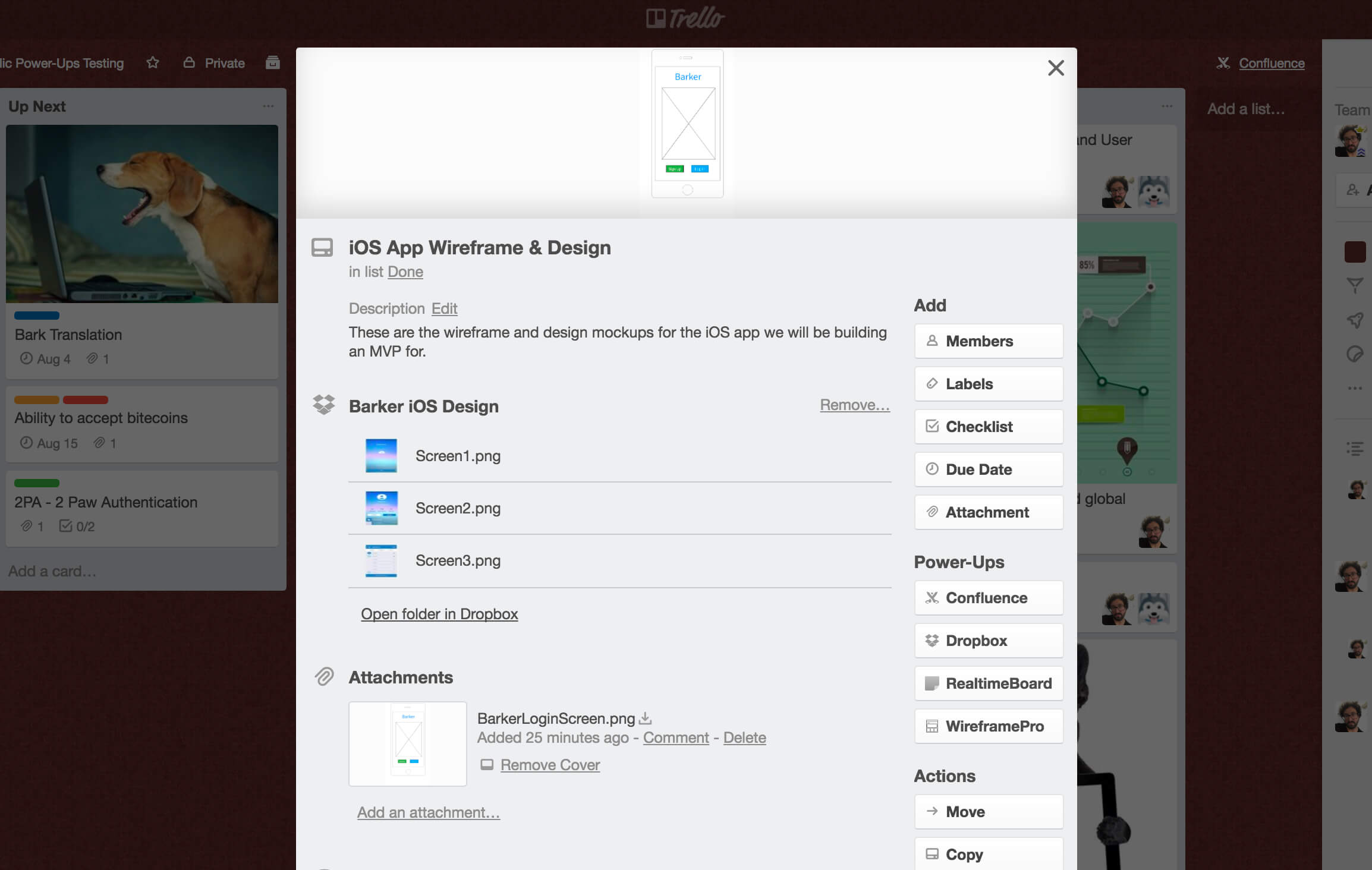Dropbox Trello Power-Up