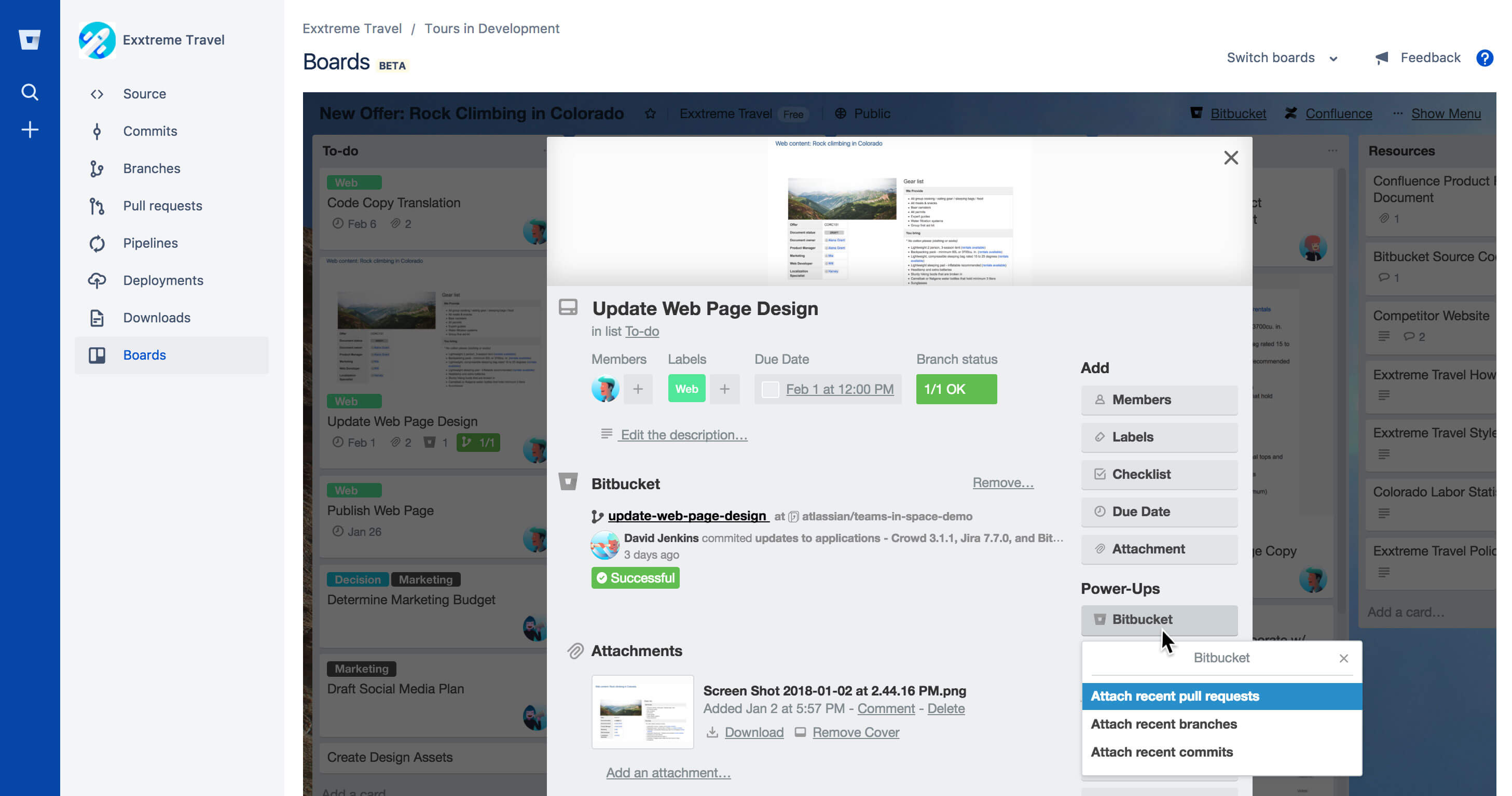 Bitbucket and Trello workflow