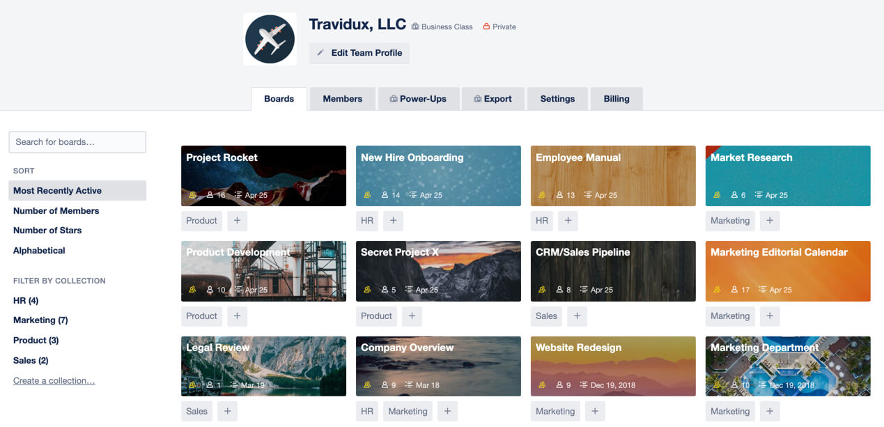 Trello Business Class et Collection
