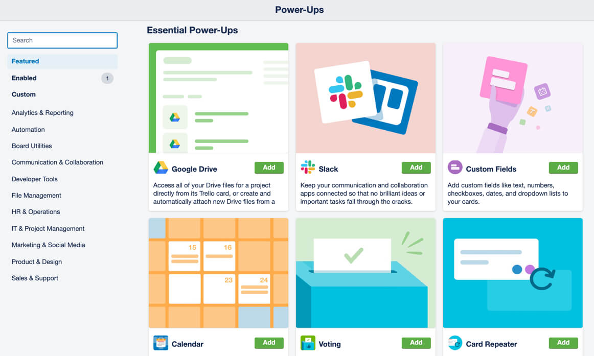 Trello Business Class gives teams unlimited Power-Ups from the directory