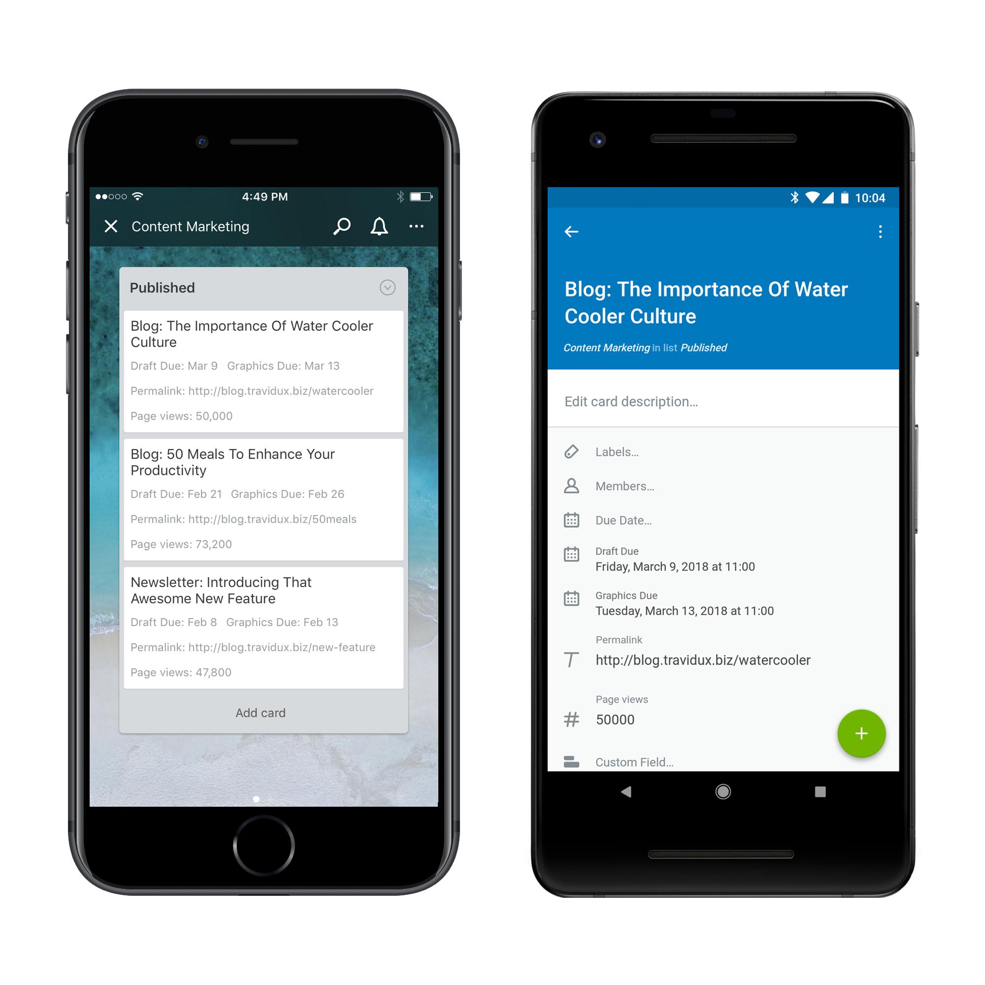 Trello benutzerdefinierte-Felder-iOS-Android