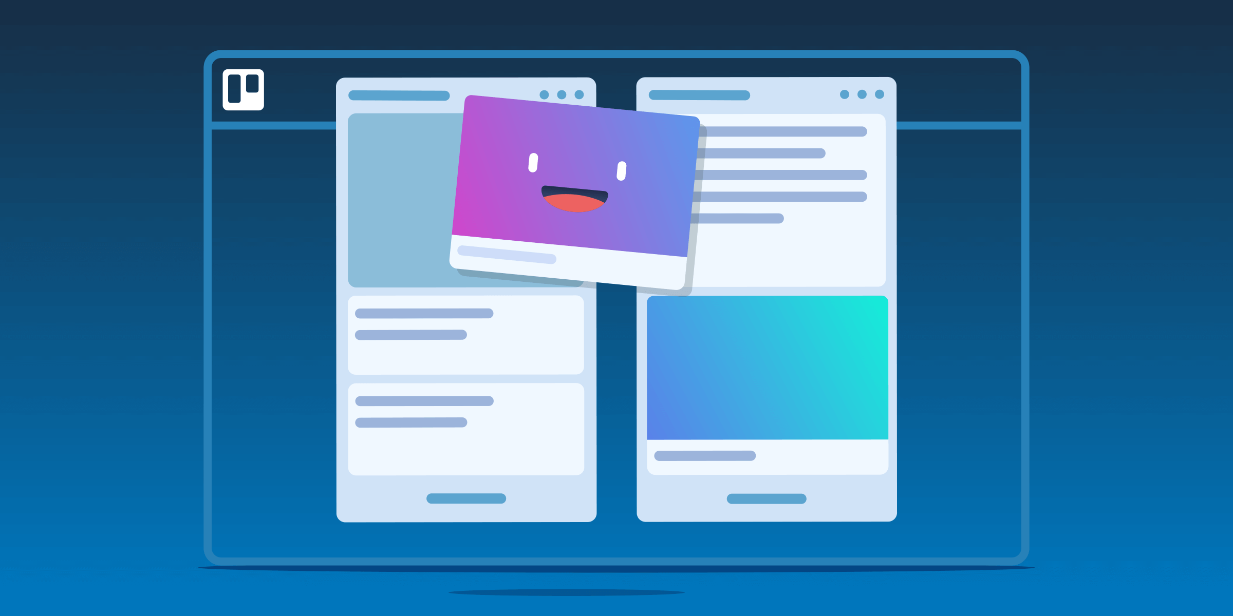 Using Multiple Trello boards: How to organize your Trello cards between boards