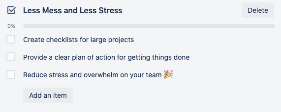 use Trello Checklists to reduce team overwhelm