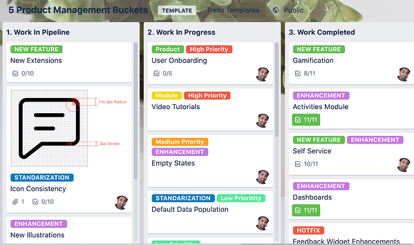 trello label to categorize your tasks