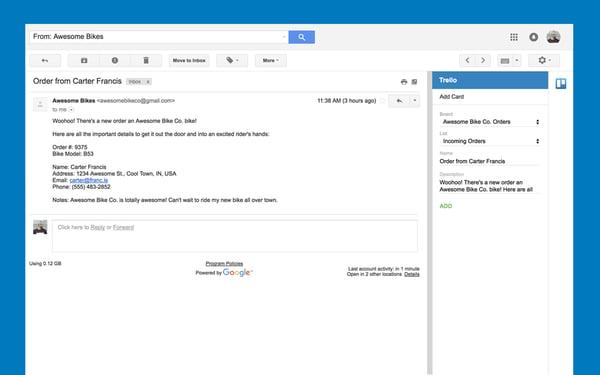 gmail add on