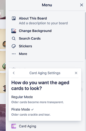 card aging power-up in Trello