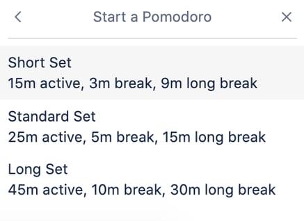 Pomodoro set