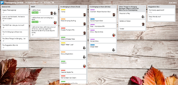 Thanksgiving Central Trello Board