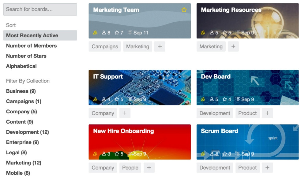 Trello Board Collections