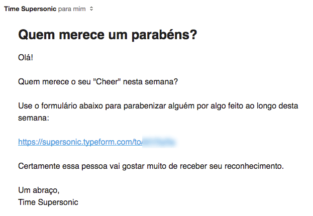 email de feedback
