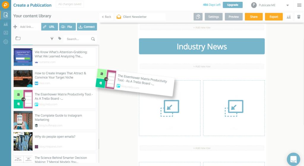criar uma newsletter