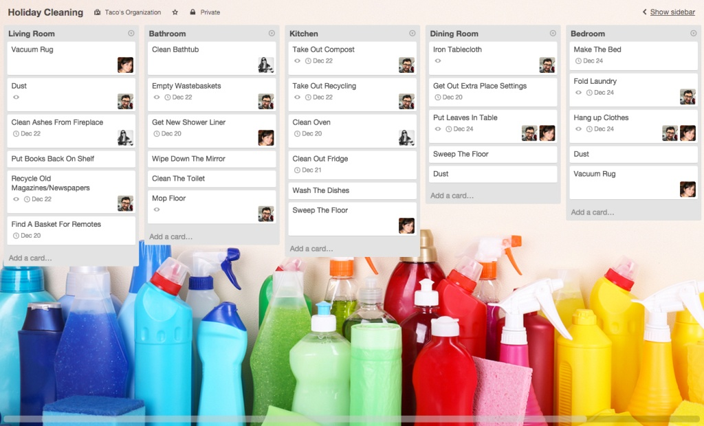 Tips for using Trello: Family chore chart