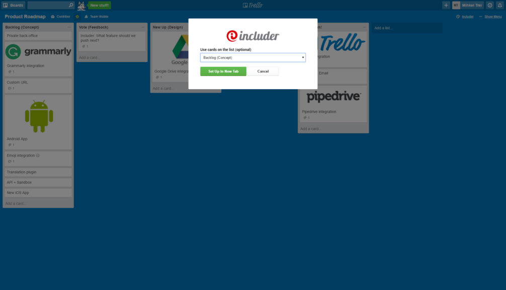 Includer Power-Up for Trello