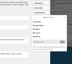 Trello file attachments options