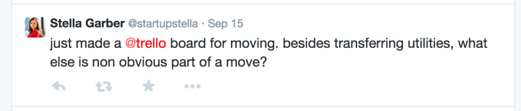 Twitter Re: Moving