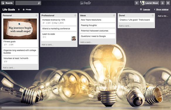 Make resolutions with Trello