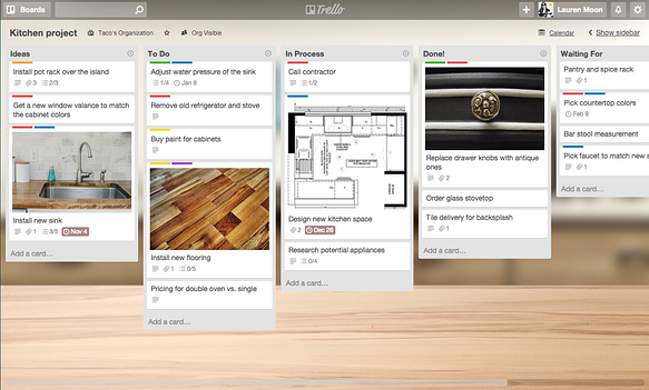 Tips for using Trello: Manage a home renovation