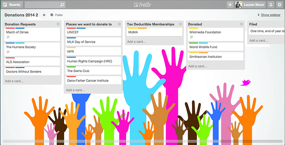 Track charitable donations in Trello
