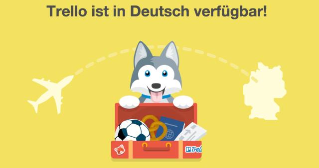 Trello ist in Deutsch verfügbar!