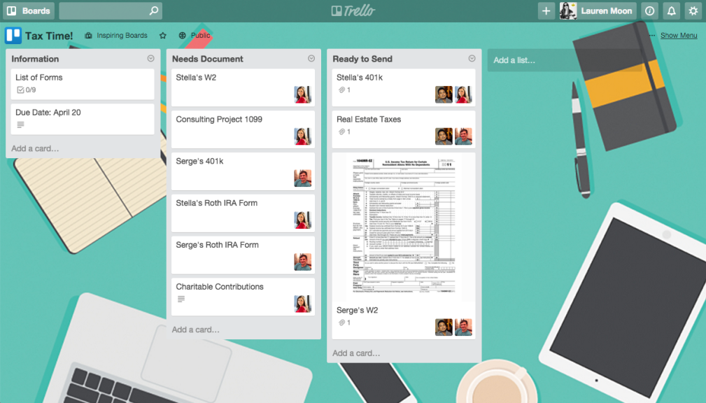 How to organize and file taxes with Trello