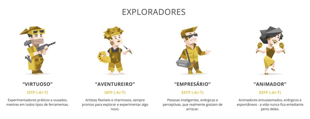 mbti exploradores