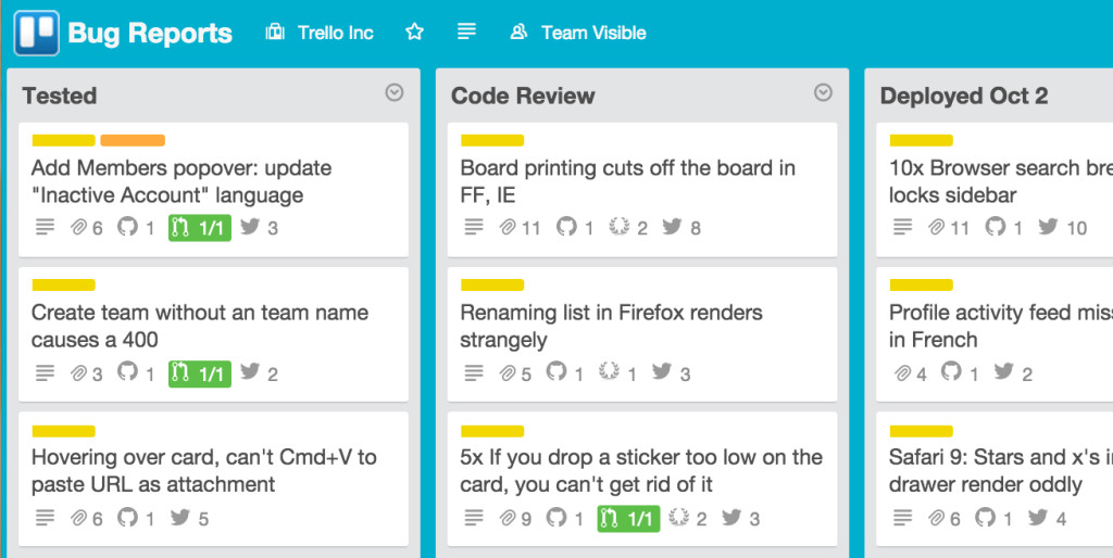 Attach tweets to bug reports using Twitter and Trello