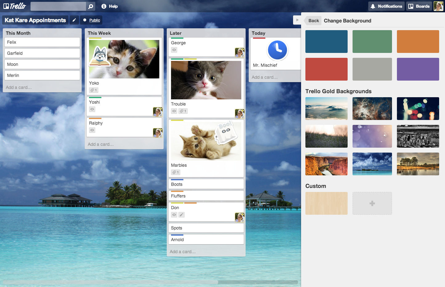 how to delete a board of trello