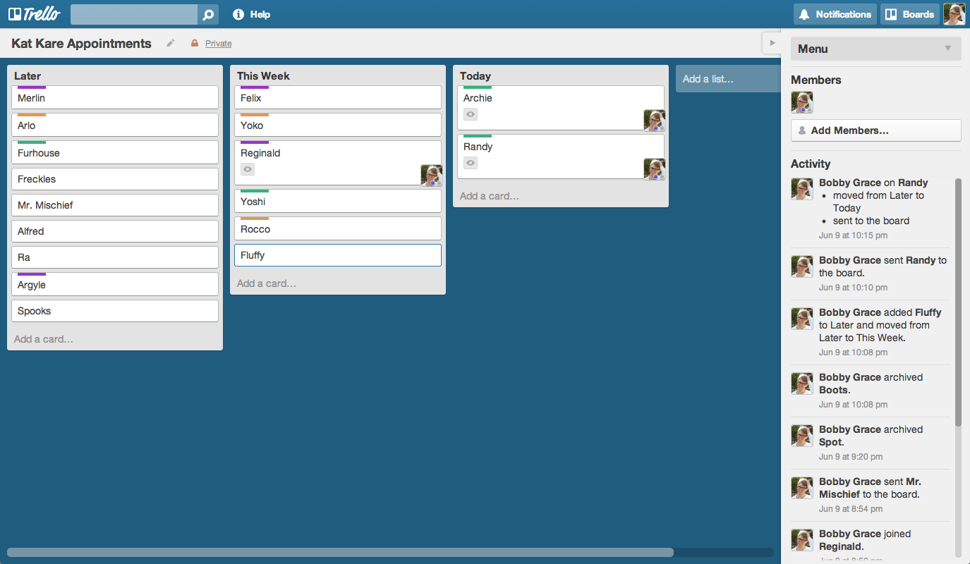 how to get the archived trello board back