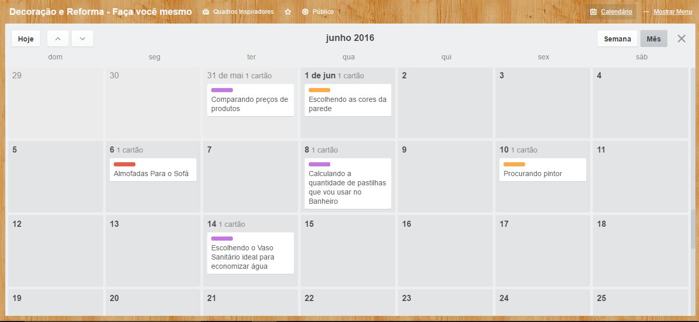 calendário de reforma de casa