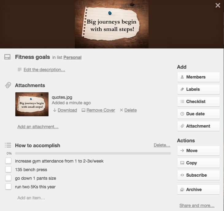 Track resolutions with Trello cards