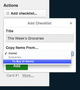 Trello checklist copy