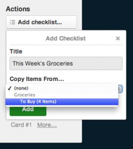 Trello checklist copy