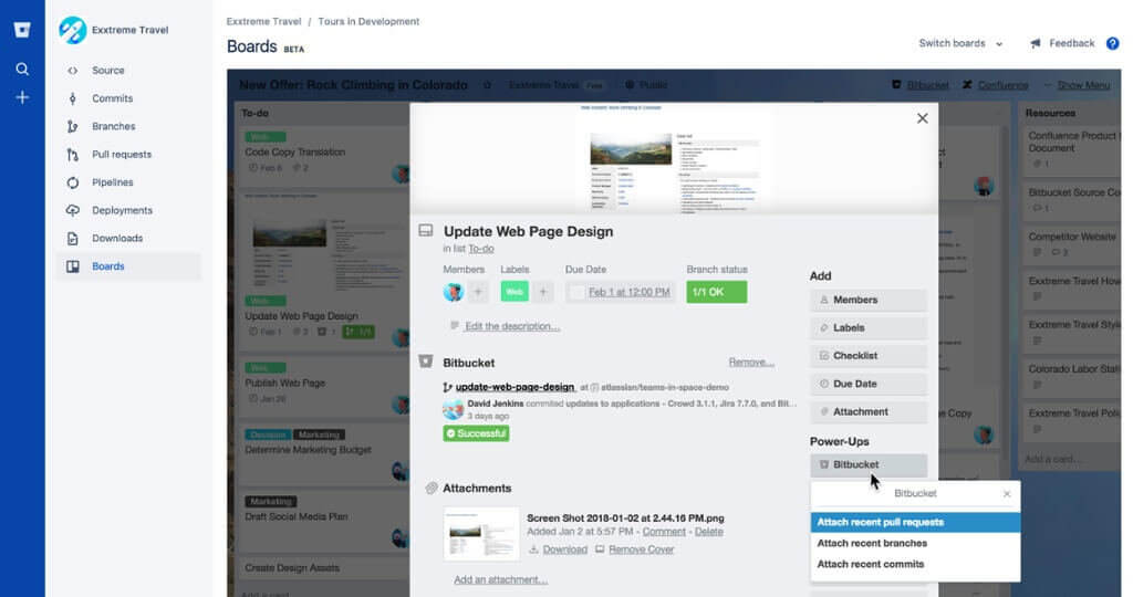 Bitbucket e Trello