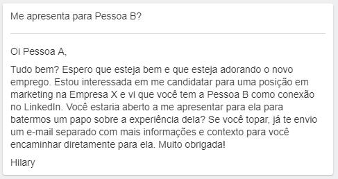 exemplo de busca de emprego
