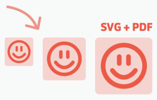 Icons are saved in multiple formats and sizes