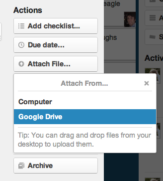 Attach From Google Drive