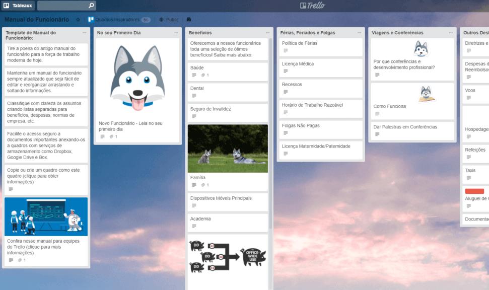 quadro de repositório workflow