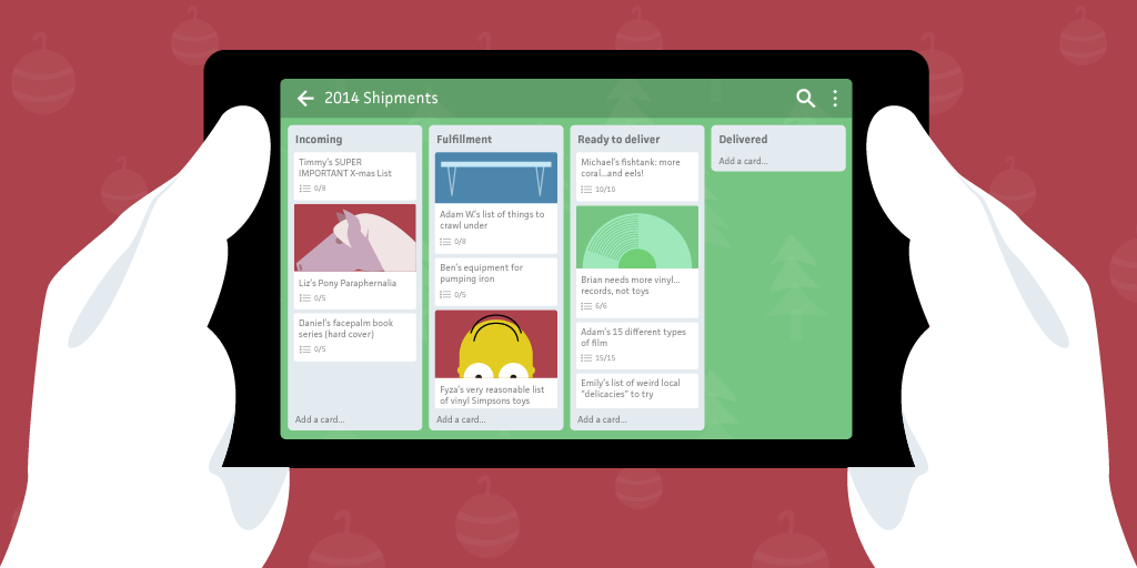 Christmas planning with Trello