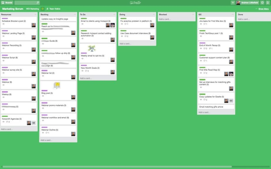 Trello Scrum Board