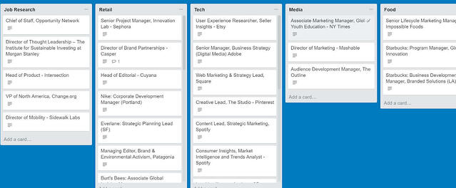 How to use Trello lists to organize your job search