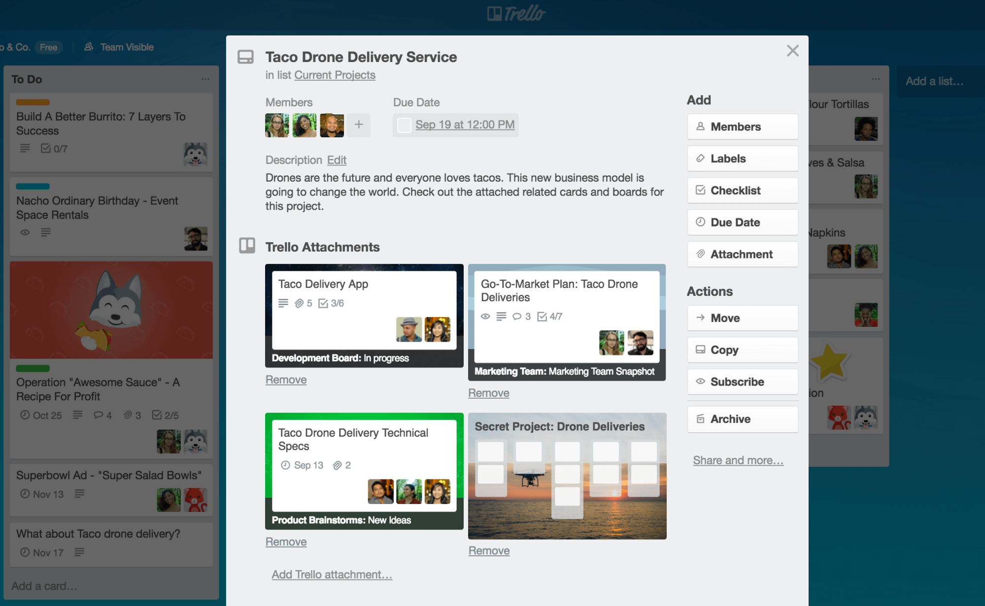 trello copy feature