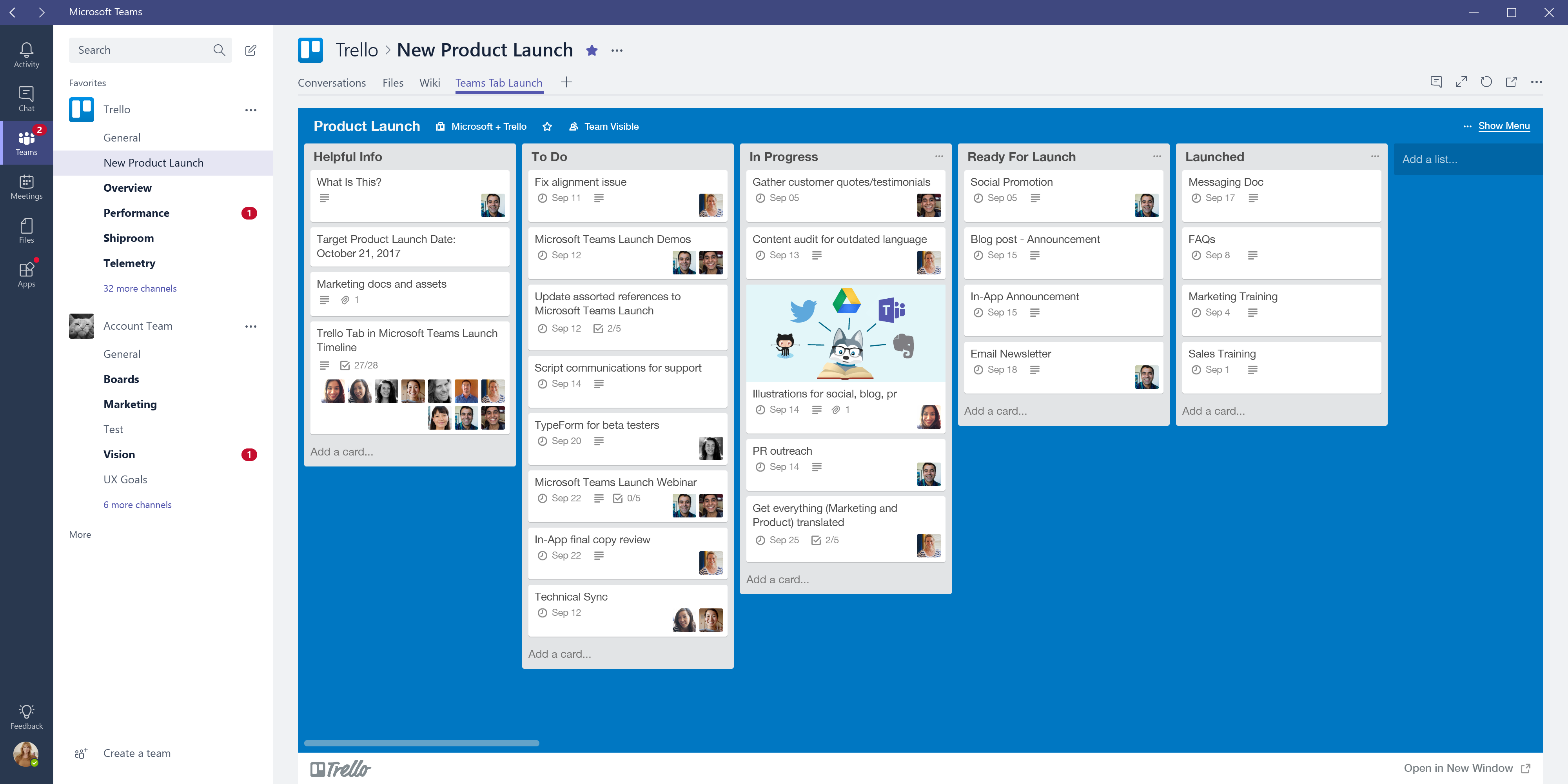 Embed Trello cards and boards in Microsoft Teams