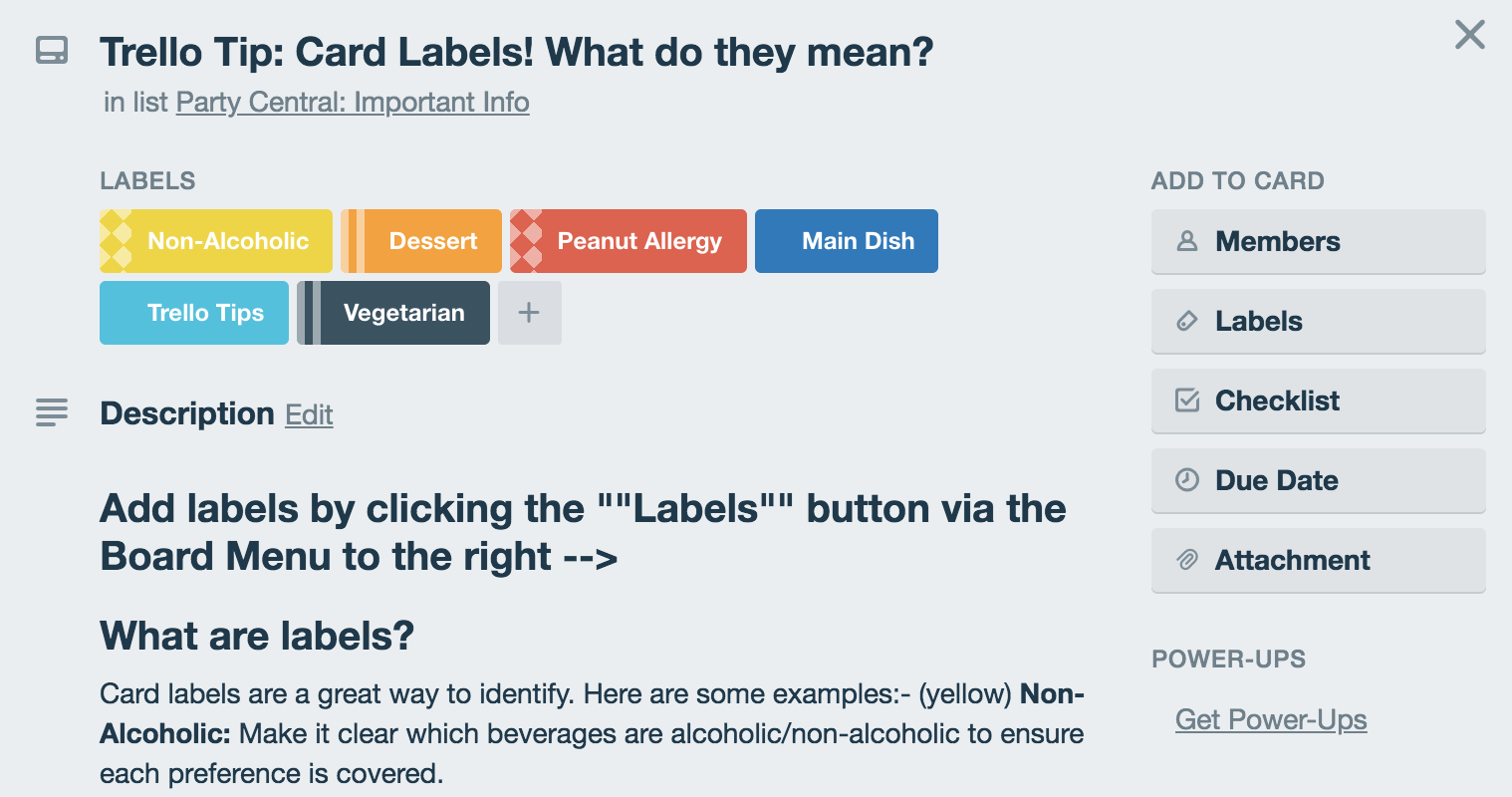 how to use labels on a trello card