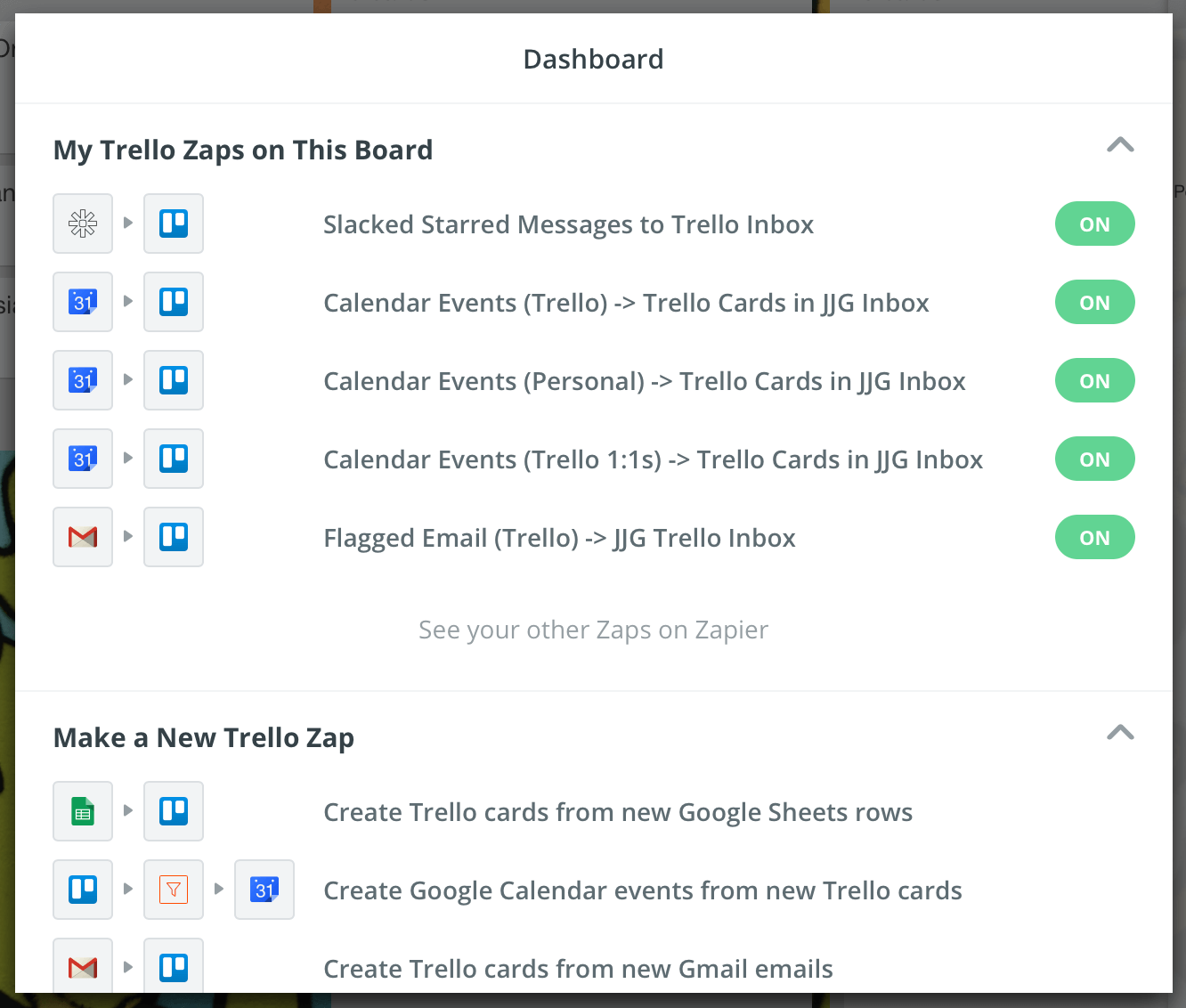 Trello Zapier Zaps for Personal Productivity