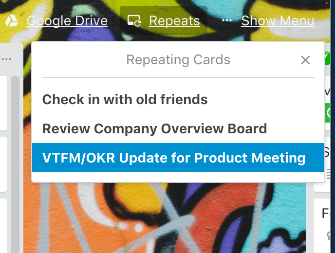 Recurring Cards Power Up in Trello